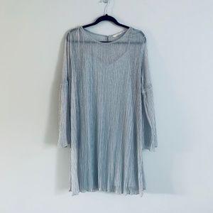 LC Lauren Conrad Textured Metallic Shift Dress XXL